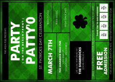 St. Patrick's Day Plaid Postcard