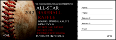 Baseball Stitches Raffle Ticket
