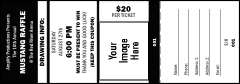 Your Image Raffle Ticket 001 (Black & White)
