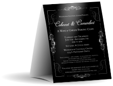 Black Tie Gala 2 Table Tent