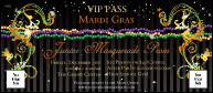 Mardi Gras Beads VIP Pass
