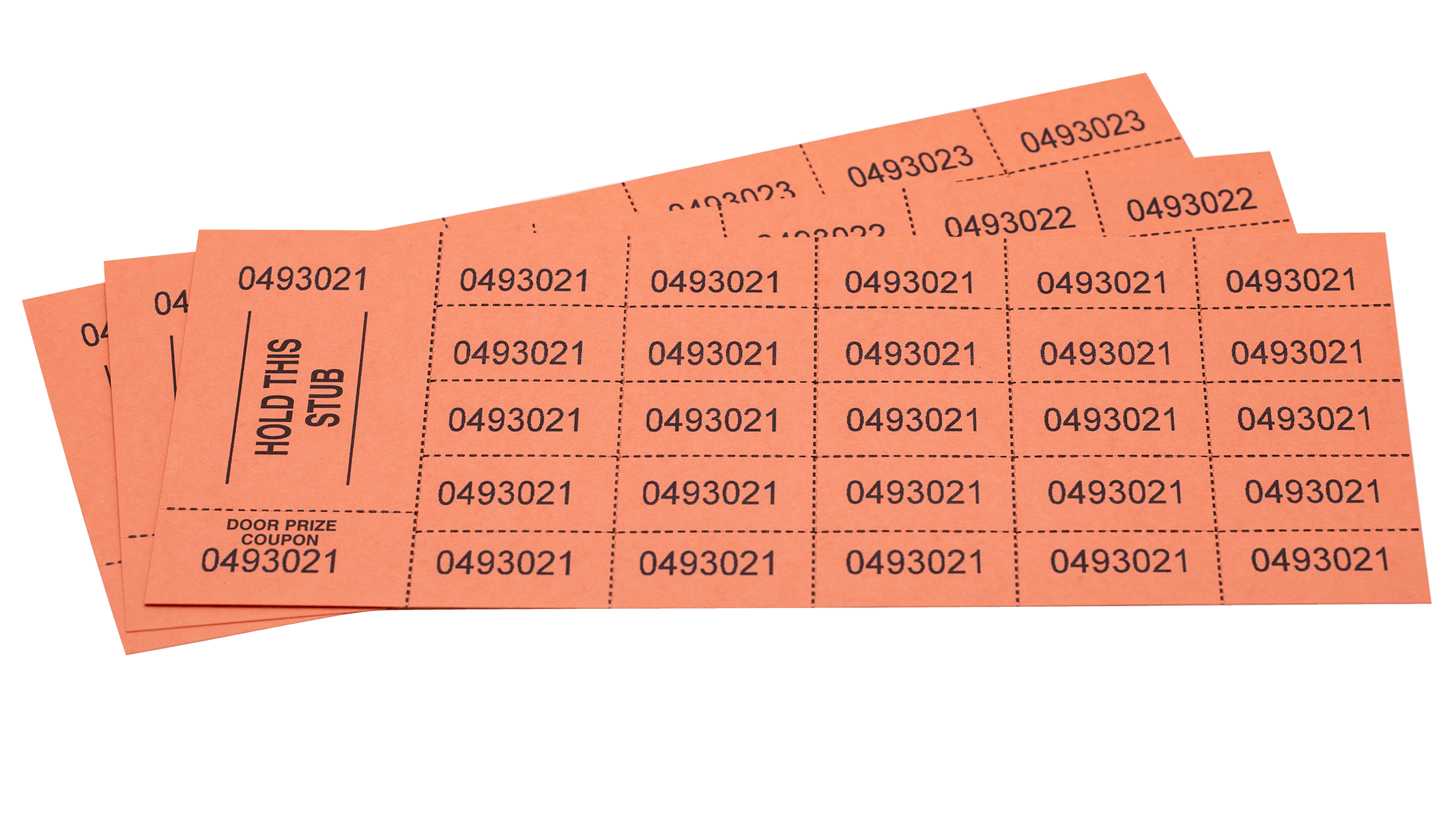 Chinese Auction Ticket Orange (pack of 500)
