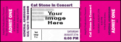 All Purpose Big Logo Magenta Event Ticket 0007
