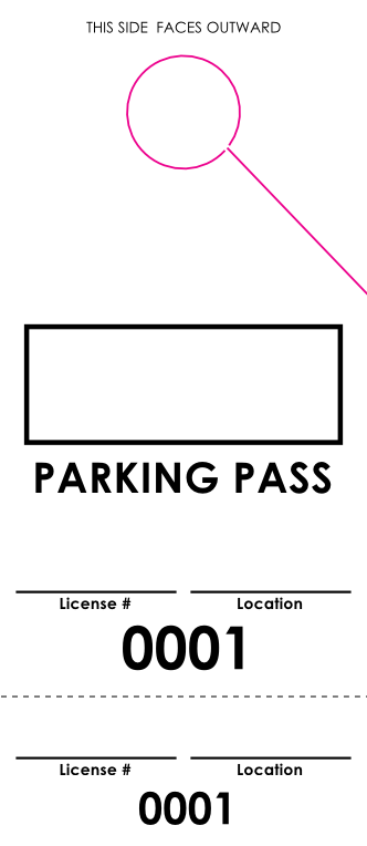 Basic Plus Parking Pass (100 pack)