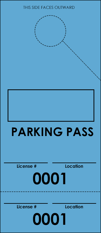 Blue Parking Plus Permit (100 pack)