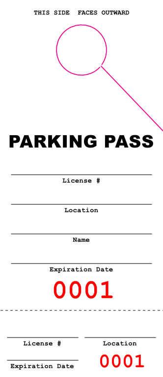 Detailed Parking Pass (100 pack)