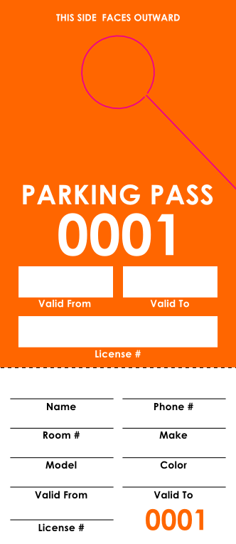 Orange Parking Permit