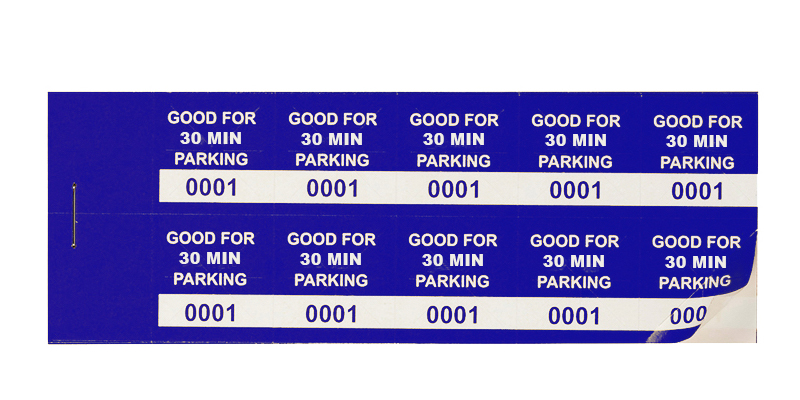 Blue 30 Min Parking Validation Stickers (package of 1000)