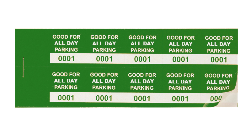Green All-Day Min Parking Validation Stickers (package of 1000)
