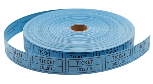 Single Roll Tickets Blue