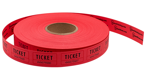 Single Roll Tickets Red