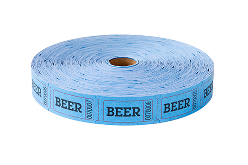 Single Roll Tickets Blue Beer