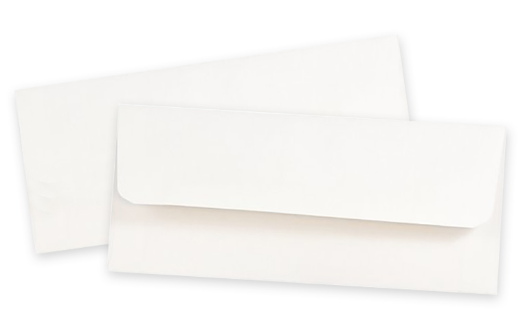 "Ticket Envelope, 24lb White Wove, 6"" x 3"""